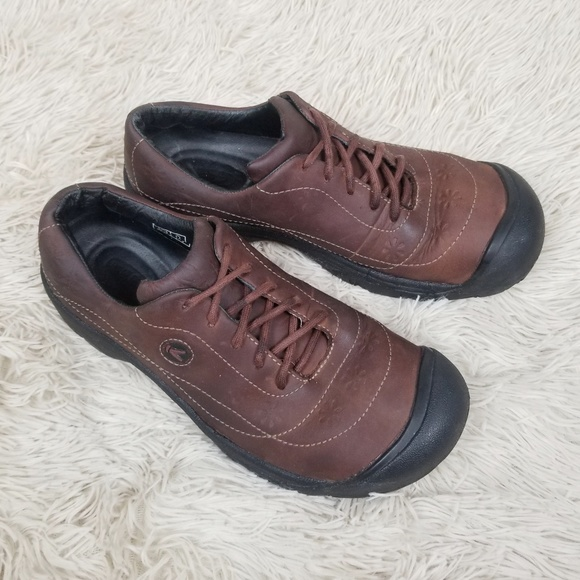 cb04656d4f3 Keen Shoes   Toyah Brown Leather Lace Up Sneakers   Poshmark